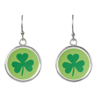 Green Irish Shamrocks | Saint Patrick's Day Earrings