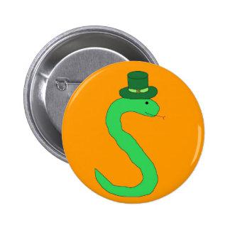 Green Irish Snake pin