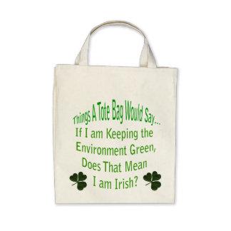 Green Irish Tote Bag
