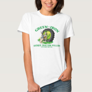 Green Iron Antique Tractor Pullers Tee Shirt