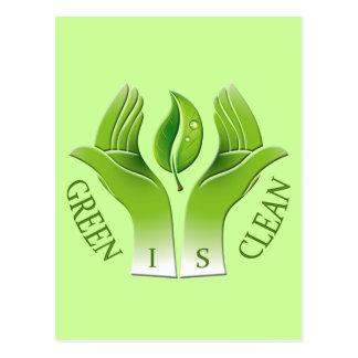 GREEN IS CLEAN POSTCARD