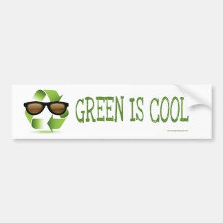 GREEN IS COOL BUMPER STICKER