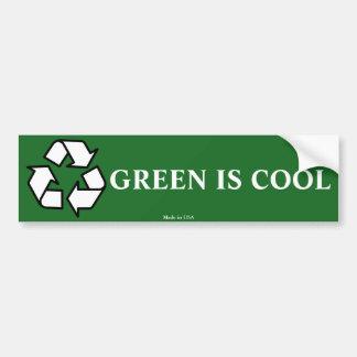 Green Is Cool Enviromental Bumper Sticker