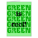 GREEN is cool Greeting Cards