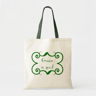 Green Is Good Canvas Bag