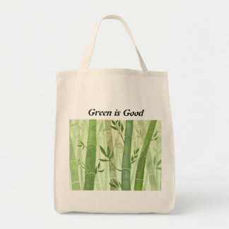 Green is Good Grocery Tote Grocery Tote Bag