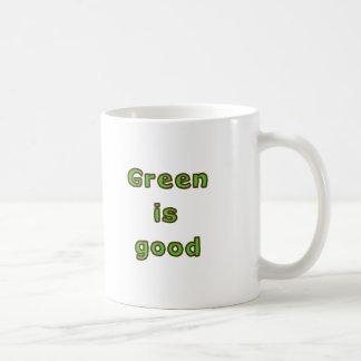 Green is Good Coffee Mugs