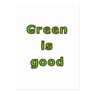 Green is Good Postcard