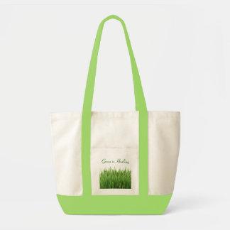 green is healing bag