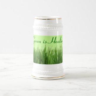 green is healing stein coffee mugs