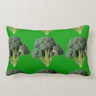 GREEN IS HEALTHY AND BEAUTIFUL-BROCCOLI LUMBAR PILLOW