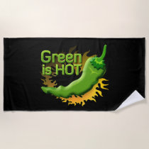 Green is HOT Beach Towel