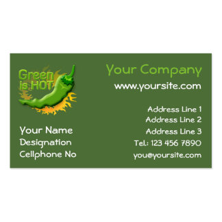 Green is HOT Business Card
