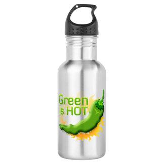 Green is HOT Water Bottle