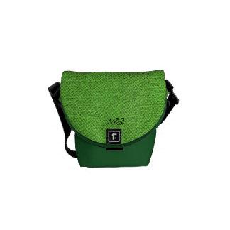Green is life. messenger bag