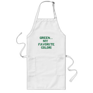 Green Is My Favorite Color Long Apron