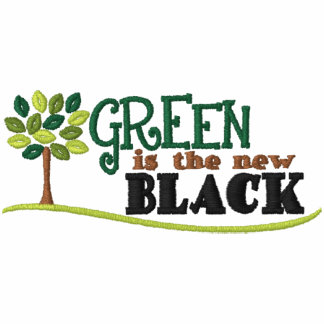Green Is New Black Embroidered Hoody