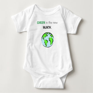 Green Is The New Black Baby Bodysuit