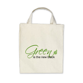 Green is the New Black Tote Bags