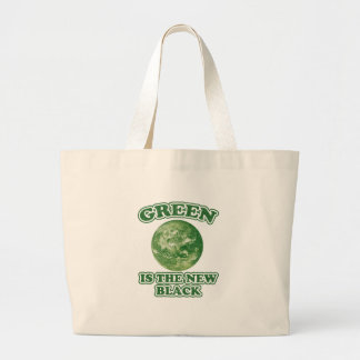 Green is the new black canvas bag