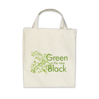 Green is the New Black Canvas Bags