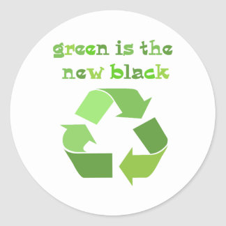 Green is the new Black! Classic Round Sticker