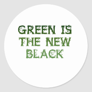 Green Is The New Black Classic Round Sticker