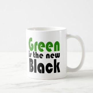 Green is the new black coffee mug