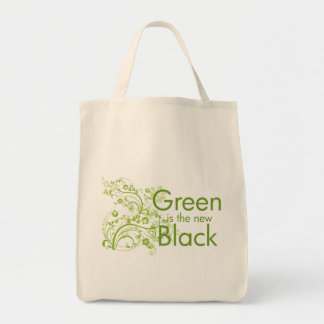 Green is the New Black Grocery Tote Bag