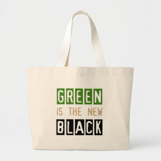Green is the New Black Jumbo Tote Bag