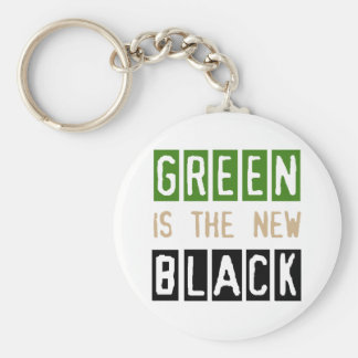 Green is the New Black Keychain