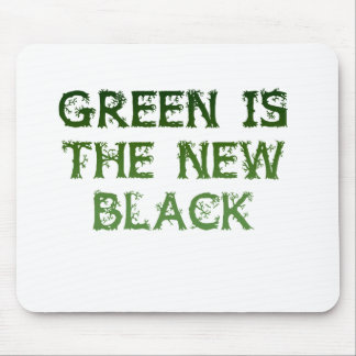 Green Is The New Black Mouse Pad