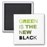GREEN IS THE NEW BLACK REFRIGERATOR MAGNETS