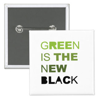 GREEN IS THE NEW BLACK SOLID BUTTONS