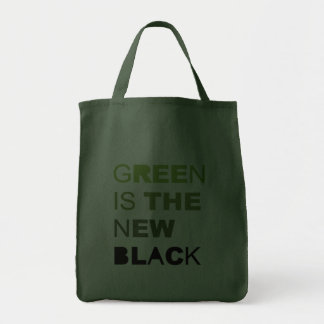 GREEN IS THE NEW BLACK SOLID CANVAS BAG