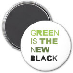 GREEN IS THE NEW BLACK SOLID FRIDGE MAGNET