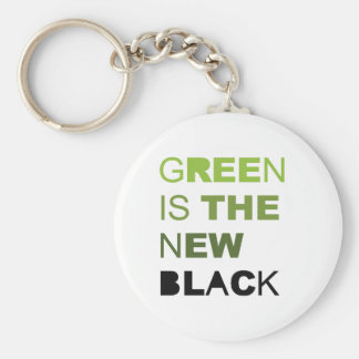GREEN IS THE NEW BLACK SOLID KEYCHAIN