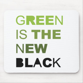 GREEN IS THE NEW BLACK SOLID MOUSE PAD