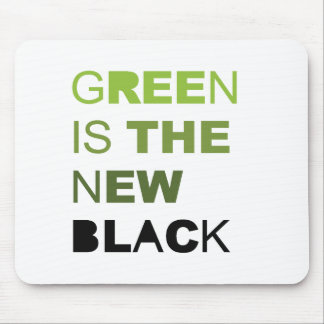 GREEN IS THE NEW BLACK SOLID MOUSE PADS
