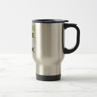 GREEN IS THE NEW BLACK SOLID 15 OZ STAINLESS STEEL TRAVEL MUG