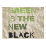 GREEN IS THE NEW BLACK SOLID POST CARDS