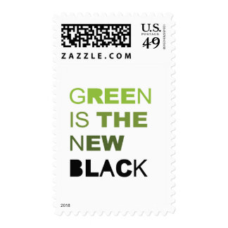 GREEN IS THE NEW BLACK SOLID POSTAGE