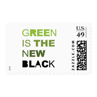GREEN IS THE NEW BLACK SOLID POSTAGE STAMP