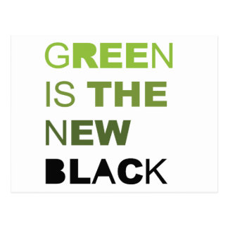 GREEN IS THE NEW BLACK SOLID POSTCARD