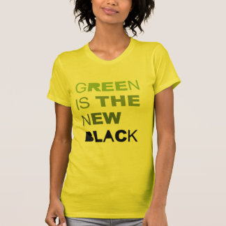 GREEN IS THE NEW BLACK SOLID T-SHIRTS