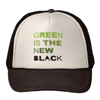 GREEN IS THE NEW BLACK SOLID TRUCKER HAT