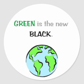 Green is the new black sticker