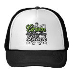 Green is the new black trucker hat