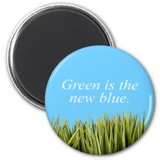 Green is the new blue refrigerator magnets