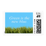 Green is the new blue stamps